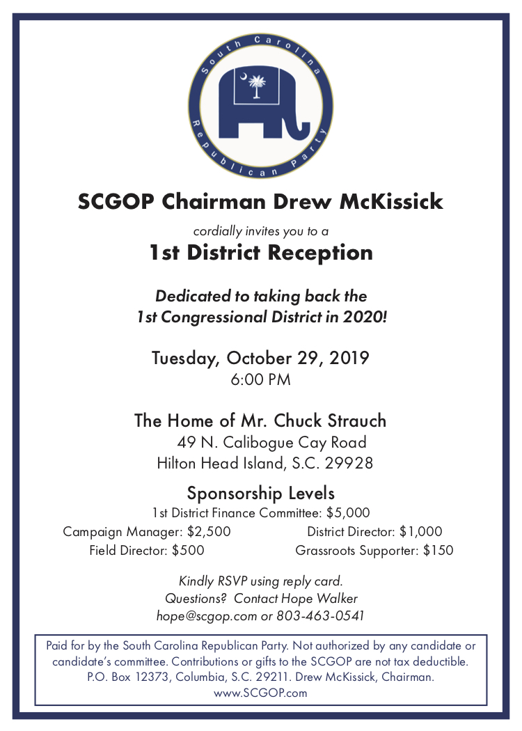 10-29-2019 -- Invitation2 to SCGOP fundraiser for CD-01
